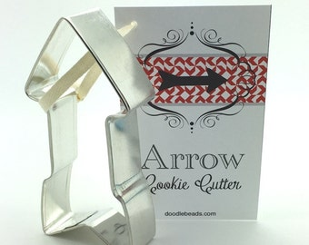 """Press Forward -2016 Mutual theme - Arrow Cookie Cutter  5""""  tin plated cookie cutter"""