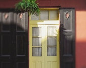 """New Orleans """"Yellow NOLA Door"""" Art Photography - french quarter picture travel - home decor wall art  print. 8x10, 11x14, 16x20, 20x24"""