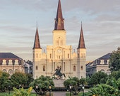 French Quarter Art Print, St. Louis Cathedral Photography, New Orleans Art, Louisiana Home Decor, Wall Art, Jackson Square Photo.