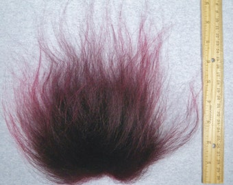 Troll Doll Replacement Wig Hair Mohair-Deep Burgundy Soft Wool Icelandic sheepskin