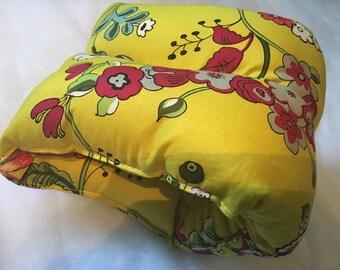 Yellow floral nursing pillow/ arm pillow