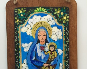 Saint St Mary Mother of God blessed Mother - Happy Mother's Day Mom Retablo PRINT