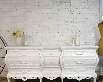 Painted Cottage Chic Shabby French Dresser DR880