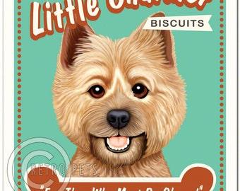 8x10 Cairn Terrier Art - Little Charmer Biscuits - Art print by Krista Brooks