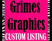custom listing for Stacey Cromp