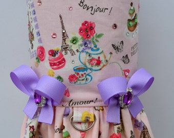 Dog Harness Vest - French Macaron with Bling Upgrade