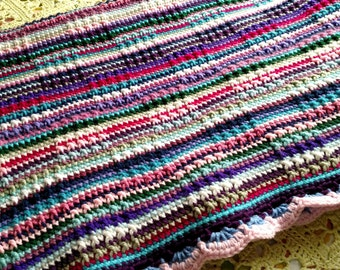 Striped Crocheted Afghan