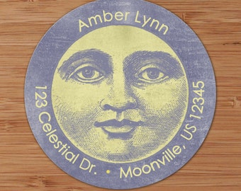Celestial Moon - Custom Address Labels or Stickers