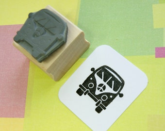 Small Camper Van Stamp - Campervan Rubber Stamp - Stocking Stuffer - Stocking Filler - Glamping - Caravan - Gift for Camper Van lover