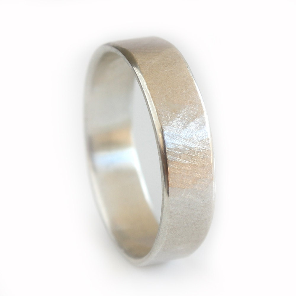 Mens Wedding Band Mens Ring Argentium Silver Rustic Textured