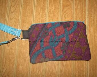 Clearance 35% off, Wrap Scrap - Wrap Wristlet - Wristlet Clutch - RTS Beautiful Wrap Wristlet Clutch