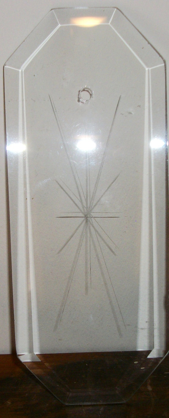 Chandelier Replacement Glass Panels Bevels with Choice of 5