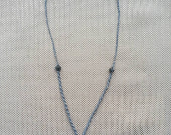 Mother of pearl macrame necklace