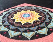 Original Mandala Sand Art (pink black)