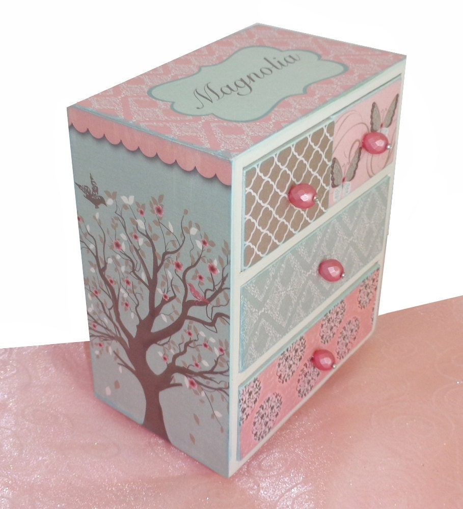 Girls jewelry box personalized mystical enchantment for Girls large jewelry box