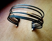 Steel and Gold cuff