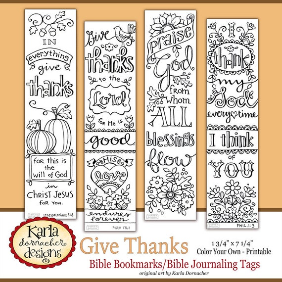 Bible Bookmarks / Bible Journaling tabs to color in