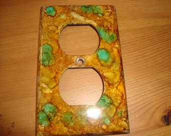 LIGHT SWITCH PLATE Cover - Whimsical  Hand Painted Electrical Outlet Cover
