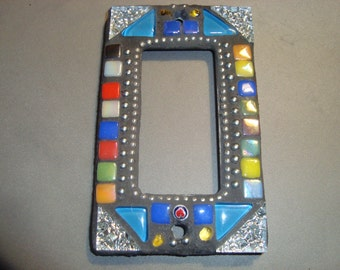 MOSAIC Outlet Cover or Switch Plate, GFI Decora, Wall Plate, Multicolored