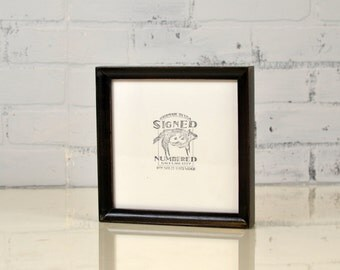 "7x7"" Square Picture Frame in Foxy Cove Style with Vintage Black Finish - IN STOCK - Same Day Shipping - 7x7 Photo Frame"