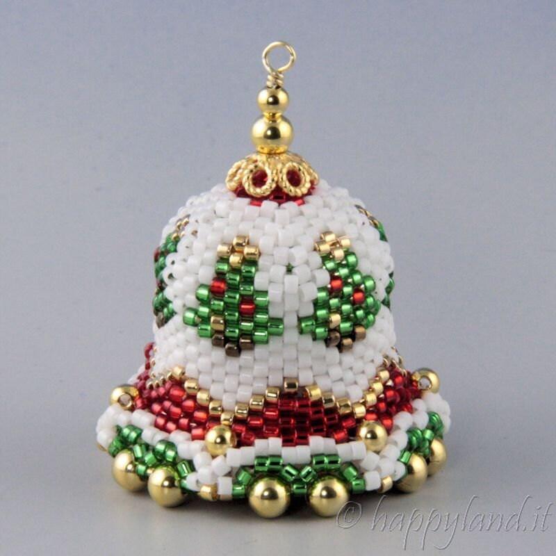 Christmas bell peyote kit and pattern