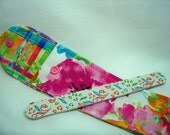 PK Board Case in Watercolor Floral - Nail File Case - Emery Board Case - Pencil or Pen Case - Purse Accessory - Ready To Ship