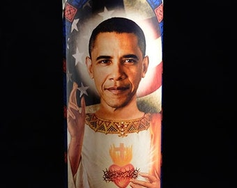 Saint Obama Prayer Candle / POTUS / Barack Obama