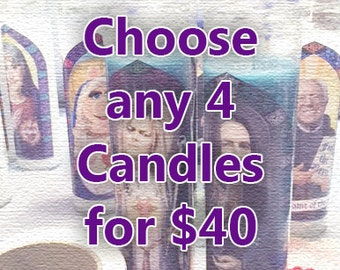 Prayer Candles - Choose Any 4 Candles!