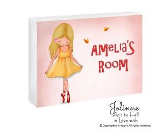 Girls personalized door sign,Children Personalized Sign,art for girls room,personalized gift for girl,girls room wall art,custom name plaque