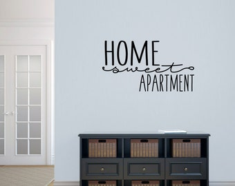 Home Sweet Apartment - Entryway Family & Living Room Quotes Room Wall Decals