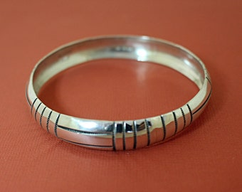 Southwestern Silver Bangle Bracelet