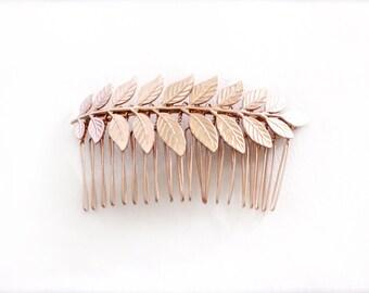 Athena Comb, Golden Leaf Bridal Comb, Bridesmaid Hair Accessories, Wedding Comb, Bridal Hair Accessories, Goddess Comb,