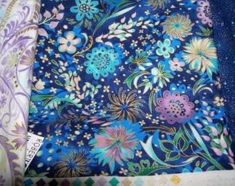 Lumina 2 Peggy Toole for Robert Kaufman 2 yard sample cuts Blue-violet colorway