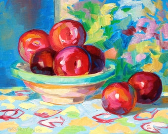 "plums painting 14""x11"""
