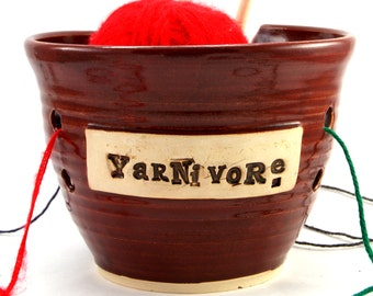 Yarnivore - A Yarn Bowl for Chicks with Sticks - SALE - Ready to Ship
