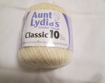Aunt Lydia Crochet Thread, Size 10, Choice of Colors