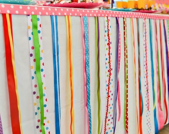 Shopkins Ribbon Garland, Shopkins, Ribbons, Rainbow Party, Candyland Party