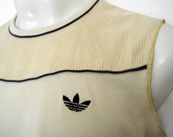 70s / 80s ADIDAS MUSCLE TEE Tank Top, size s - m