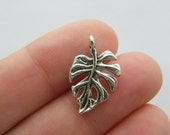 8 Leaf charms antique silver tone BOX18