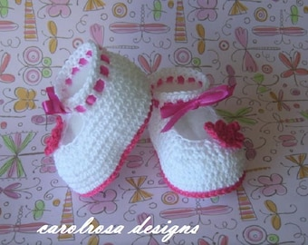 Crochet Pattern - Baby/Child Booties Shoes Christening Summer Baptism Heirloom Download
