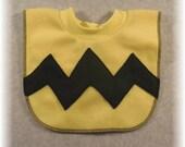 Charlie Brown Baby Bib or Toddler Bib Pullover Style Fleece Bib