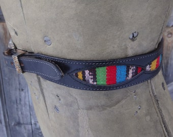 "1980's, western belt, size 32"", by Silver Creek Collection"