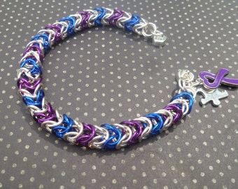Autism/Epilepsy Awareness Bracelet, Autism Awareness Bracelet, Autism Bracelet, epilepsy Bracelet, epilepsy Awareness Bracelet