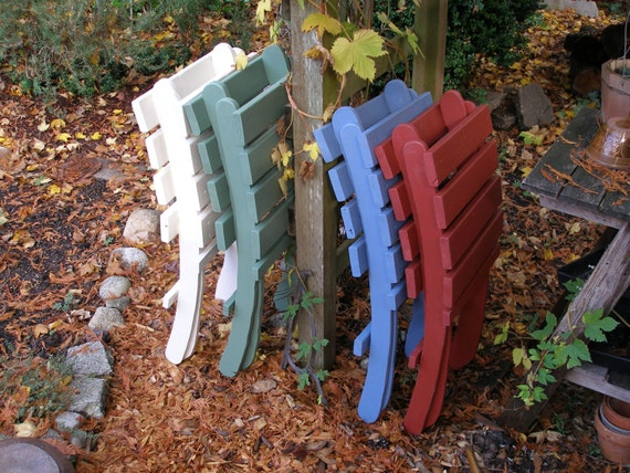 Great Outdoor Chairs! - Set of 4 Folding Storable Cedar Chairs - Special Price for 4 Chair Set! -  15 colors to choose from - Laughing Creek
