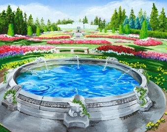 Greek Fountain in Duncan Garden, Limited Edition Giclee', Fine Art, Home Decor