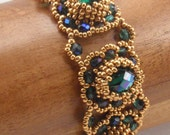 Beading Tutorial for Jeweled Mounds Bracelet, jewelry pattern, beadweaving tutorials, instant download, PDF