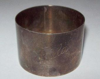 Paula 1938 Scottish Sterling Silver Napkin Ring Edinburgh