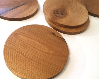 Set of 3. Perfectly Imperfect Rustic White Oak. Wooden Pie Trays. Kitchen Decor. Cake Stand. FOOD52 collab. Dinner Party.
