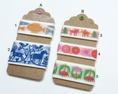 Japanese Washi Masking Tape-Curated Tape Tags - Bengt & Lotta Series Collect All or Make Your Own! Perfect for Tape Collector