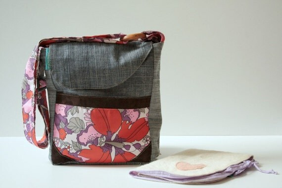new small diaper bagcross body bag with travel size wool. Black Bedroom Furniture Sets. Home Design Ideas